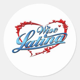 賢いラテンアメリカ系女性 ラウンドシール