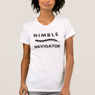賢い操縦士のムカデの女性のワイシャツ Tシャツ