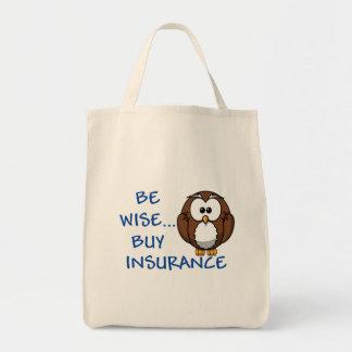 賢い買物の保険の食料雑貨の戦闘状況表示板があって下さい トートバッグ