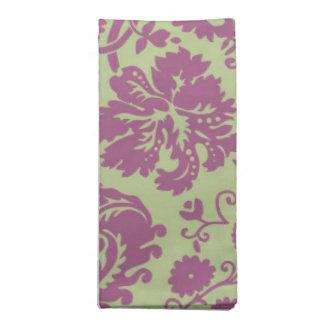 賢人および紫色のファンシーなダマスク織 ナプキンクロス