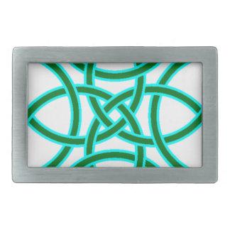 賢明な若草色のTriquetraの華美な十字 長方形ベルトバックル