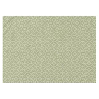 賢明な、オリーブ色の円によってはパターン(の模様が)あるなテーブルクロスが開花します テーブルクロス