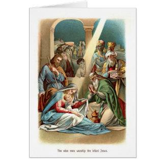 賢者の崇拝イエス・キリスト カード
