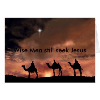 賢者はまだイエス・キリストを追求します グリーティングカード