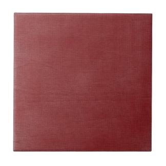 質の//のブラシをかけられたリネン深紅色 タイル