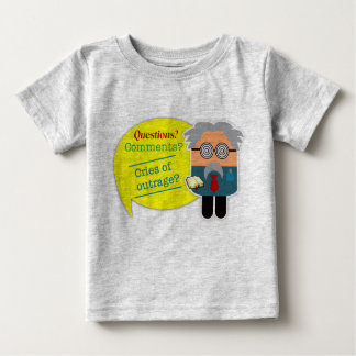 """""""質問か。 コメントか""""。 Infant T-Shirt教授 ベビーTシャツ"""