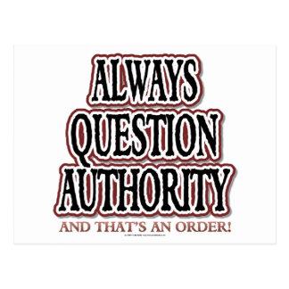 質問常に権限 ポストカード