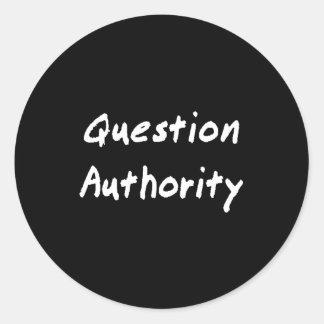 質問権限のステッカー ラウンドシール