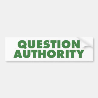 質問権限-緑 バンパーステッカー