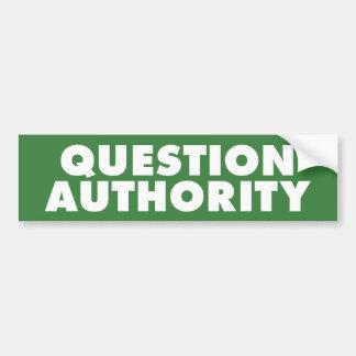 質問権限-緑B バンパーステッカー