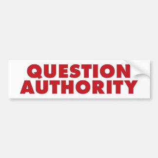 質問権限-赤 バンパーステッカー