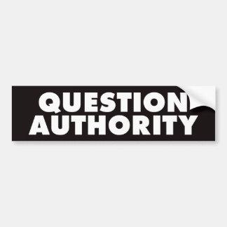 質問権限-黒いB バンパーステッカー
