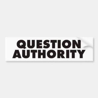 質問権限-黒 バンパーステッカー