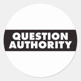 質問権限-黒 ラウンドシール