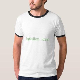 質問緑葉カンランのティー Tシャツ