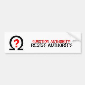 質問AUTHORITY/RESIST権限 バンパーステッカー