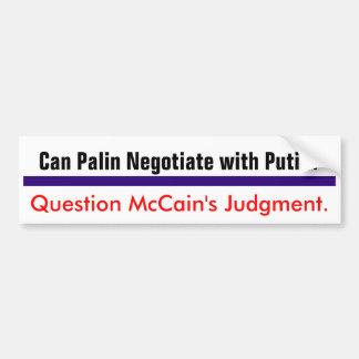 質問McCainの判断#2 バンパーステッカー