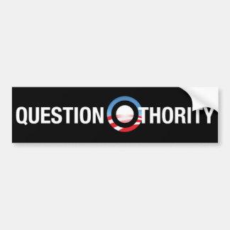 質問O-thority バンパーステッカー