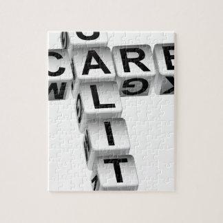 質心配のサイコロのクロスワード・パズル ジグソーパズル