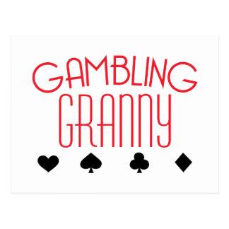 賭博のおばあさん ポストカード