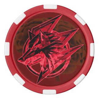 賭博のオオカミの血 ポーカーチップ