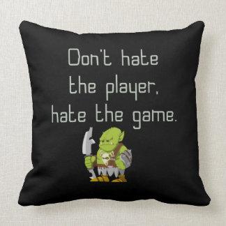 賭博のギーク: プレーヤーを憎まないで下さい クッション
