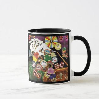 賭博のマグ-トランプのポーカー、がらくた、ルーレット、スロット マグカップ