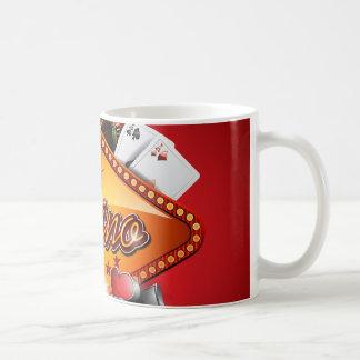 賭博の要素を持つカジノのイラストレーション コーヒーマグカップ
