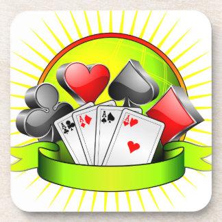 賭博の要素を持つカジノの絵 コースター