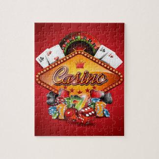 賭博の要素を持つカジノの絵 ジグソーパズル