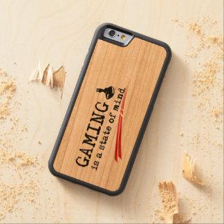 賭博のiPhone 6/6sの豊富なさくらんぼ木箱 CarvedチェリーiPhone 6バンパーケース