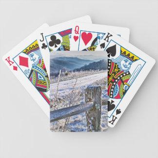 購入ノブの冬の景色の眺め バイスクルトランプ