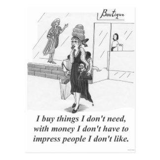 購買の事、ショッピングの女性 ポストカード