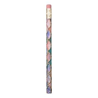 贅沢で多彩なグリッターの人魚のスケール 鉛筆