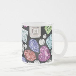 贅沢で多彩なダイヤモンドパターン フロストグラスマグカップ