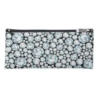 贅沢で白いダイヤモンドパターン ペンシルケース