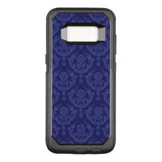 贅沢で青い花のダマスク織の壁紙 オッターボックスコミューターSamsung GALAXY S8 ケース