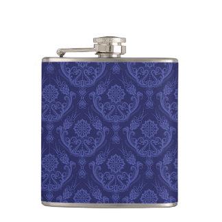 贅沢で青い花のダマスク織の壁紙 フラスク
