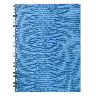 贅沢で青い革 ノートブック