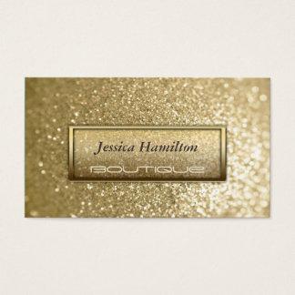 贅沢で魅力的でモダンでエレガントで模造のな金ゴールドのグリッター 名刺