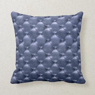 贅沢で魅力的な房状の革富裕なサファイアの青 クッション