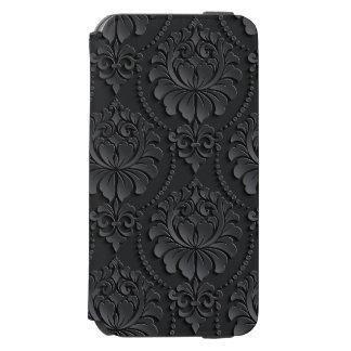 贅沢で黒い花のデザイン INCIPIO WATSON™ iPhone 5 財布型ケース