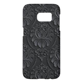 贅沢で黒い花のデザイン SAMSUNG GALAXY S7 ケース