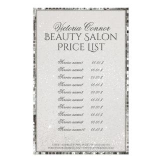 贅沢なきらめくの美容院の値段表のフライヤ 14CM X 21.6CM チラシ