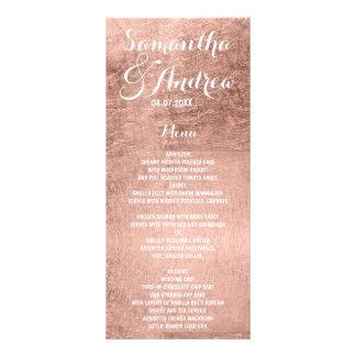 贅沢なのどのばら色の金ぱくの結婚式メニュー ラックカード