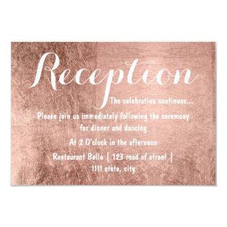 贅沢なのどのばら色の金ぱくの結婚披露宴 カード