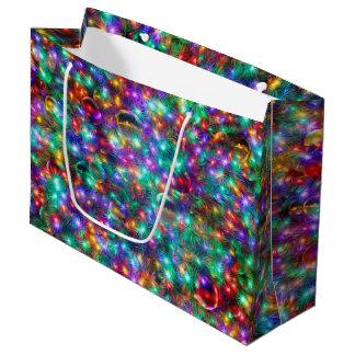 贅沢なクリスマスのきらめくな星 ラージペーパーバッグ