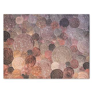 贅沢なグリッターの点および円-暖かいブラウン 薄葉紙