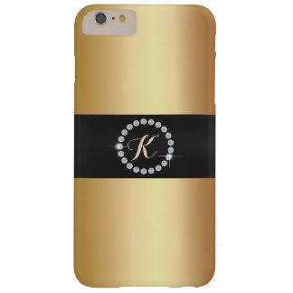 贅沢なモノグラムのダイヤモンド指輪の金ゴールド BARELY THERE iPhone 6 PLUS ケース