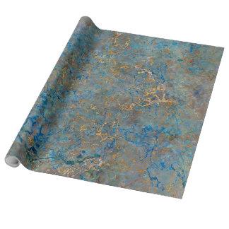 贅沢なラピスラズリの大理石 包み紙